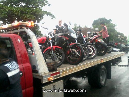 Mega operativo intermunicipal aseguran motocicletas y centro americanos