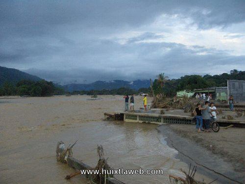 Lo que arrasó el Stan en Huixtla: dren pluvial de 5 millones de pesos