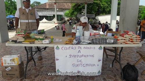 Pc de Tuzantán recauda víveres para damnificados de Guatemala