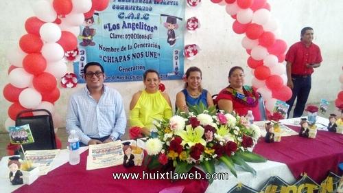 Clausura ciclo escolar del centro de asistencia infantil comunitario CAIC Angelitos en Tuzantán