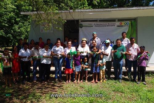 Inauguración de aula didáctica en Villa Comaltitlán