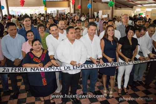 Olvita Palomeque Pineda invitada especial en feria nacional del empleo para los jóvenes 2018 en Tapachula