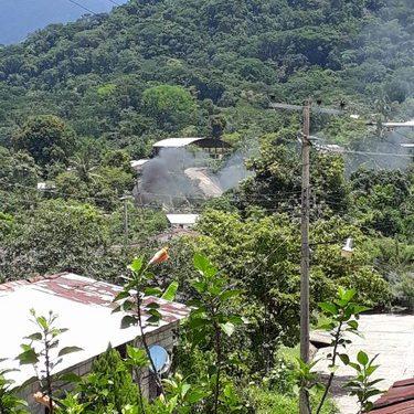 Contaminan con quema de llantas en zona cafetalera de Tuzantán