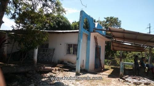 Roban campana de la iglesia del Rosario en Huixtla