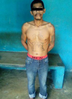 Huehueteco pandillero barrio 18 detenido en Huixtla