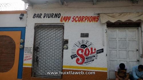 Ladrones desmantelan cantina en Huixtla