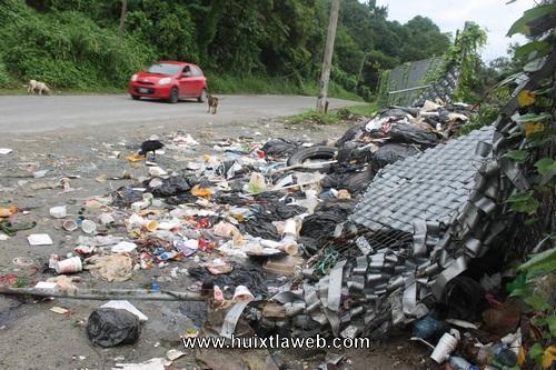 Se desborda la contaminación del basurero de Tuzantán