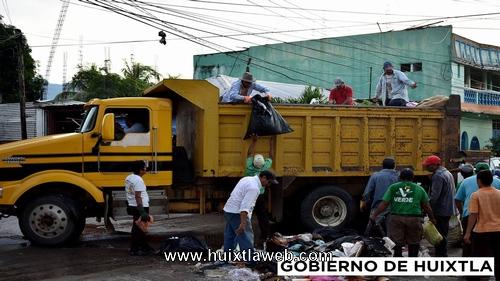 Comienza ayuntamiento de Huixtla trabajos de limpieza en el municipio