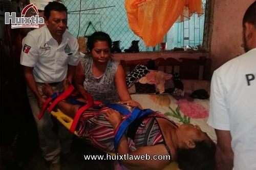 Protección Civil de Huixtla trabajando en atención a los ciudadanos