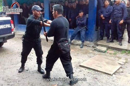 Gobierno de Huixtla capacita de forma continua desde el día  uno al personal de seguridad.