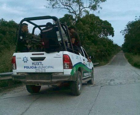 Denuncian atropellos de la policía municipal en Huixtla