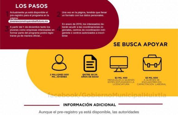 AMLO a través del gobierno municipal abre pre-registro de becas a estudiantes universitarios o en capacitación laboral
