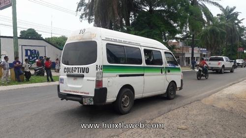 Mal servicio brindan colectivos Huixtla Tuzantán