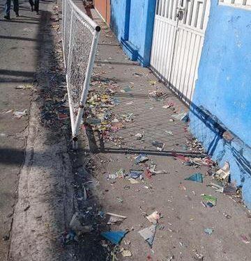 Fuera de control la quema de pirotecnia en Huixtla