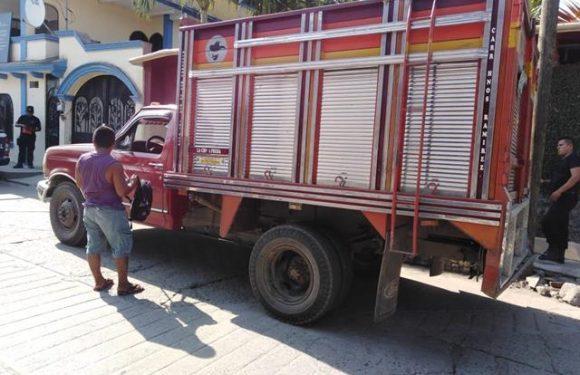 Traficante de madera detenido por municipales en Huixtla