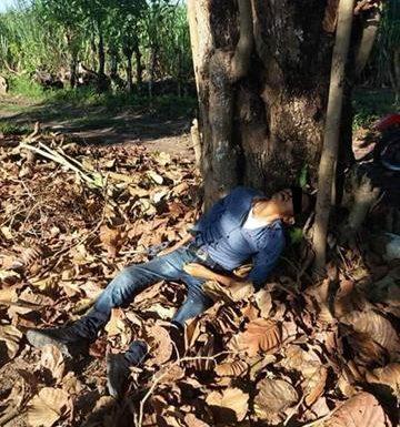 Localizan una persona muerta en zona cañera de Huixtla