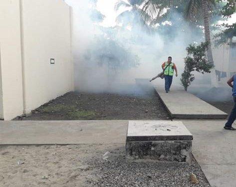 Continúan nebulización en diferentes puntos del municipio: gobierno de Huixtla