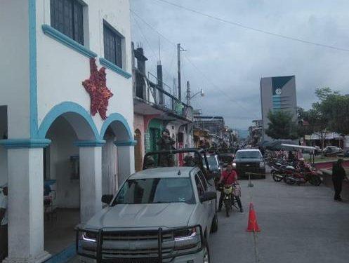 Gobierno municipal, corporaciones estatales y federales realizan patrullaje interinstitucional en Huixtla