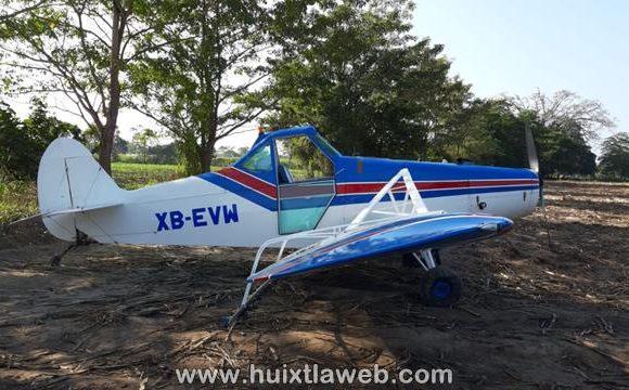 Aterrizaje forzoso de avioneta del ingenio en Huixtla