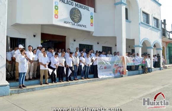 Gobierno de Huixtla realiza banderazo de descacharramiento