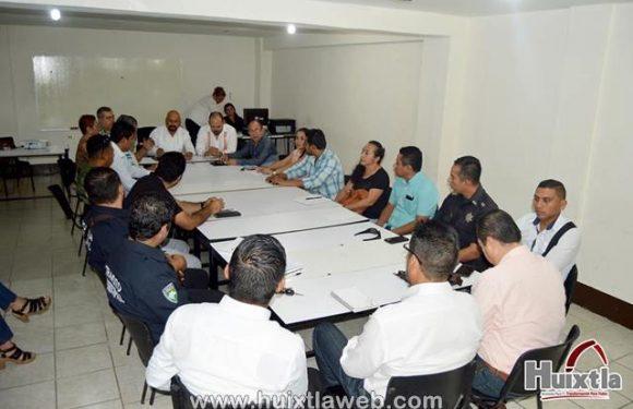 Gobierno de Huixtla realiza reunión del consejo municipal de seguridad publica
