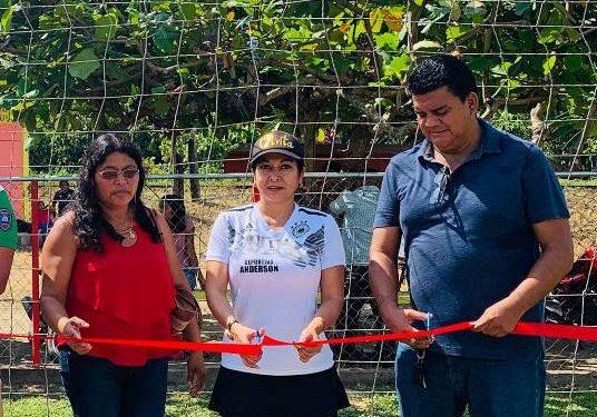 Participa diputada local en inauguración de torneo de liga de fútbol en Tuzantán