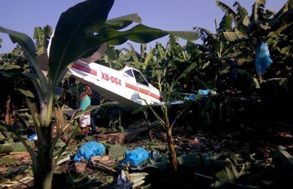 Cae avioneta agrícola en ciudad hidalgo
