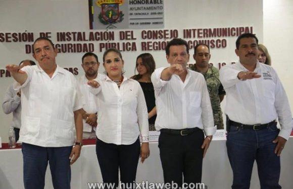 José Luis Laparra Calderón toma protesta como presidente del consejo intermunicipal de seguridad pública regional