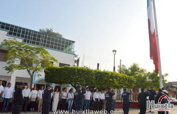 Gobierno municipal de Huixtla conmemora 102 aniversario de la promulgación de la constitución mexicana