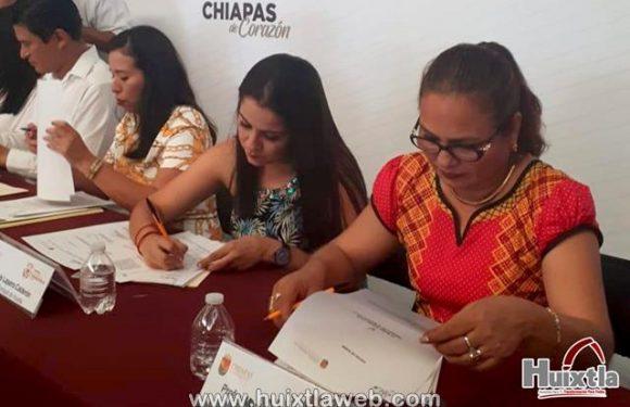 Gobierno municipal de Huixtla firma convenio con ICATECH