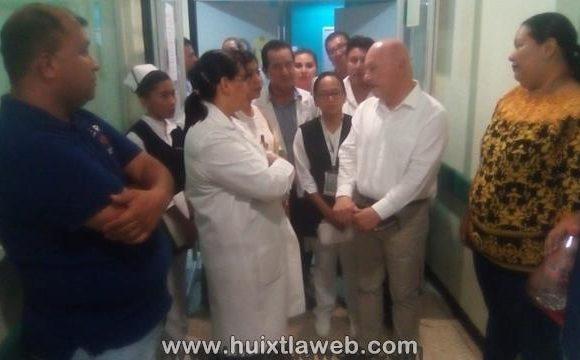 Visita el secretario de salud estatal el Hospital de Huixtla