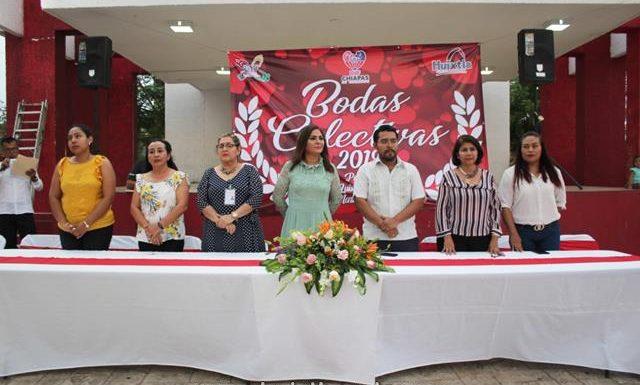 DIF Municipal de Huixtla realizó Bodas Colectivas