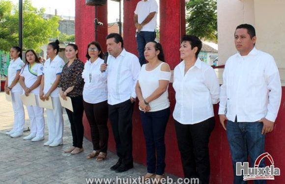 Gobierno municipal de Huixtla realizó homenaje cívico