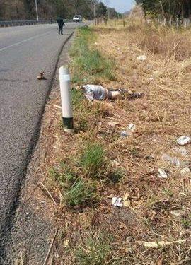 Localizan persona muerta a orilla de la Carretera en Comalapa