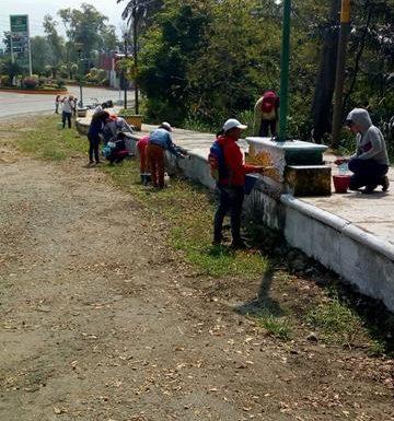 Coordinación de delegadas continúan realizando acciones de mantenimiento y limpieza