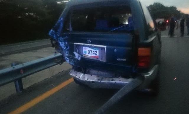 Mapaneca provoca accidente en la costera tramo Huixtla Comaltitlán