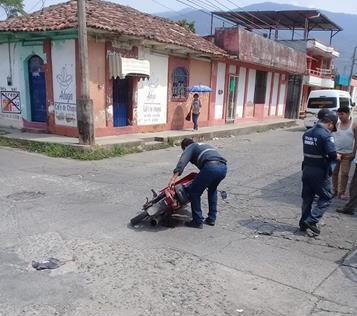 Aumenta accidentes de motociclistas en Huixtla