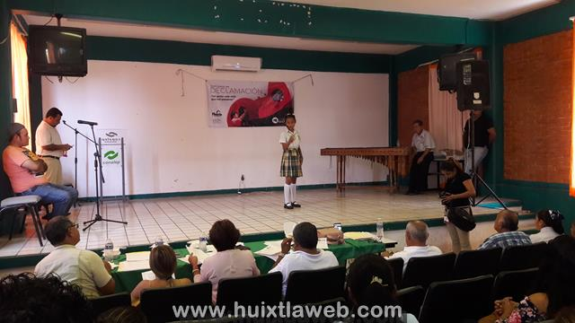 """Concurso de declamación """"Un gesto vale más que mil palabras"""" en Huixtla"""