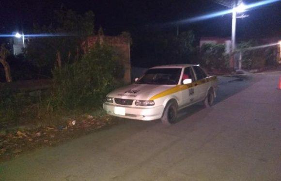 Taxi robado en Tapachula es recuperado por tránsito en Mazatán