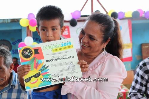 """Dif y gobierno de Huixtla, continúa  llevando a cabo la clausura del curso de verano """"crayolas 2019"""""""