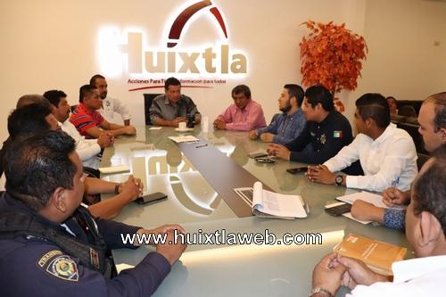 Alcalde de Huixtla participo en la mesa de trabajo en materia de seguridad interinstitucional
