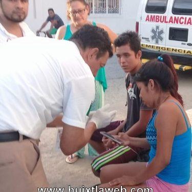 Continúan los accidentes de motocicletas en Huixtla