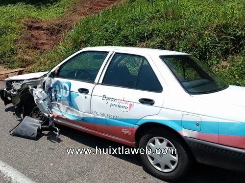 Por obra en tramo carretero se registran accidentes en Huehuetán