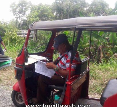Comienzan a operar moto taxis en Huixtla