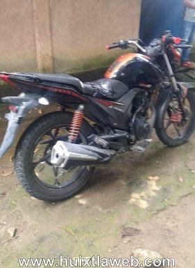 Recuperan motocicleta robada en escuintla