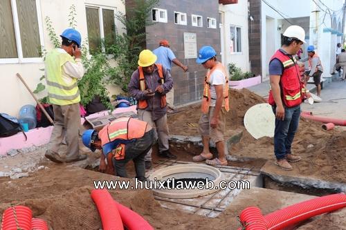 Inician trabajos de cableado subterráneo en las principales avenidas de Huixtla