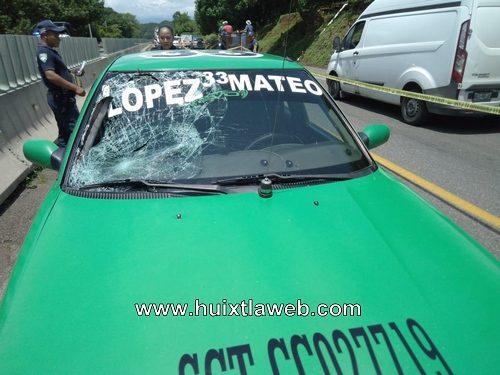 Taxi mapaneco arrolla menor en la carreta Huixtla Tapachula