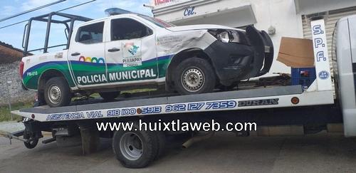 Patrulla atropella y mata a motociclista en Pijijiapan