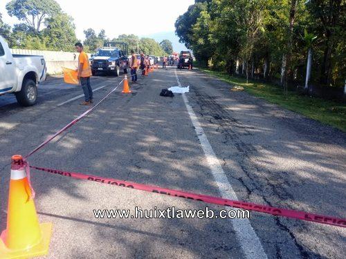 Abuelito muere atropellado en Tuzantán carretera Huixtla Tapachula