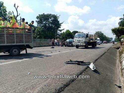 Aparatoso accidente carretera Huixtla Tapachula